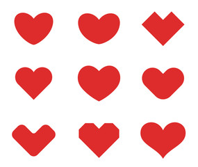 Heart shapes design vector. Valentine day love Cardiology icons