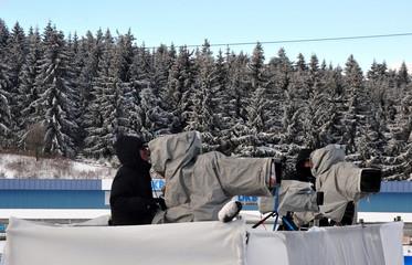 Kameramänner im Wintereinsatz