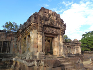 Prasat Hin Muang Tam, beautiful Hindu ancient temple in the northeastern of Thailand
