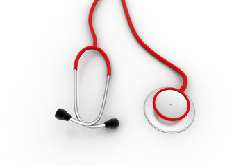 Red color stethoscope