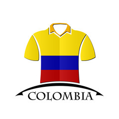 shirts icon made from the flag of colombia