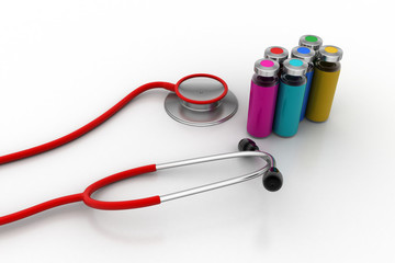 Stethoscope with injection bottles