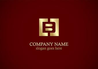 square letter b gold logo