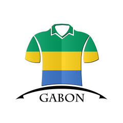 shirts icon made from the flag of Gabon