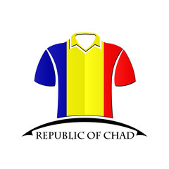 shirts icon made from the flag of Republic of Chad
