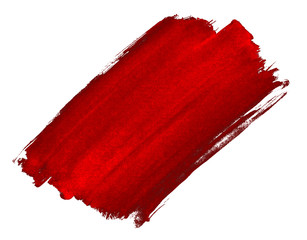A fragment of the ruby red background painted with watercolors manually