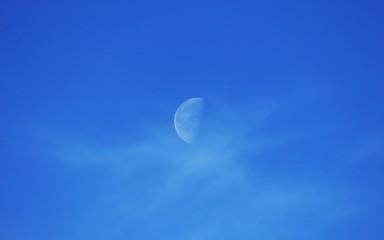 Moon on daylight