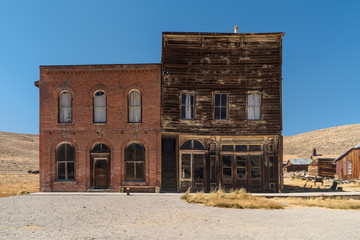 Ghost town of Bodie in California. Wall mural