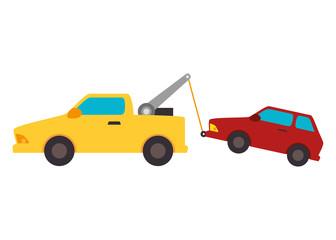 crane service isolated icon vector illustration design