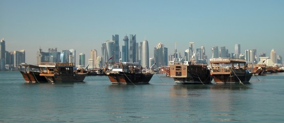 Doha - City center and junks
