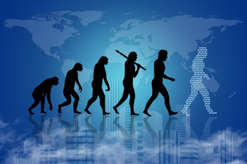 Evolution of human to present digital world