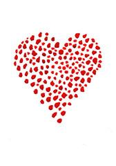 Red hearts, Valentine's