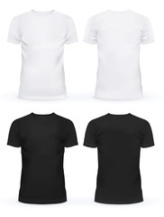 Empty front of t-shirts for men and women