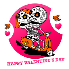 Vector illustration ard Happy Valentine s Day