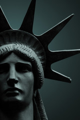 Door stickers Historic monument Statue of Liberty portrait