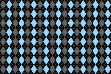 Classic argyle seamless pattern for textile, paper print. Vector illustration. Blue grey.