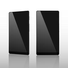 Black Smart Phone Vector Illustration isolated on white witout frame