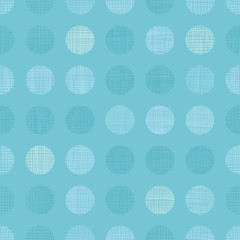 Vector Vintage Pastel Blue bay Boy Dots Circles Seamless Pattern Background With Fabric Texture. Perfect for nursery, birthday, circus or fair themed designs.