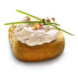 dakos with feta cheese salad