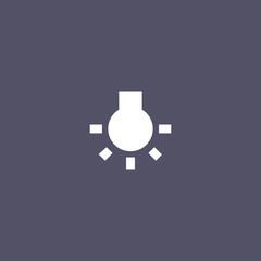 idea icon. bulb sign