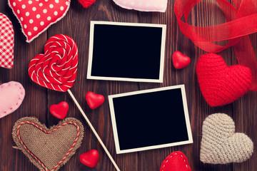 Valentines day photo frames