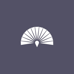 Japanese folding fan icon