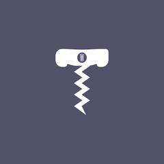 corkscrew icon. wine opener