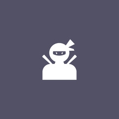 simple ninja icon design