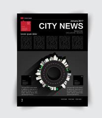Vector magazine page design