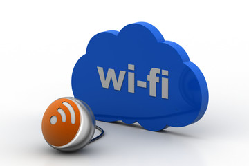 Cloud Computing Technology  connect with Wi-Fi