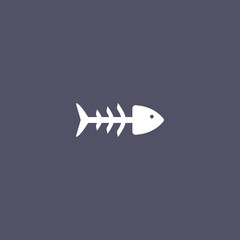 simple fishbone icon