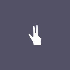 billiard glove icon