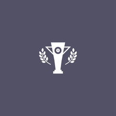 trophy icon. champion cup