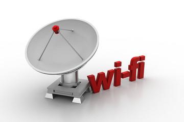 Creative concept icon of satellite dish for wi-fi signal