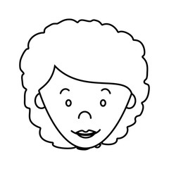 cute woman character icon vector illustration design