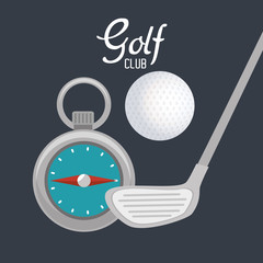 golf club sport icon vector illustration design