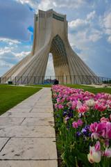 La tour Azadi (ou tour de la Liberté) à Téhéran