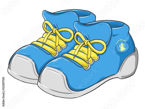 quot par de zapatos tenis ilustrados estilo caricatura quot  stock clip art shoes and boots clip art shoes images