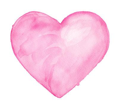 Cute Heart. Watercolor drawing
