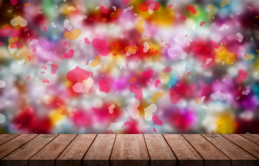 Valentines day background with  colorful Hearts shape