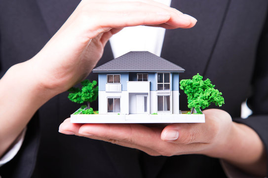 Property insurance and real estate concept