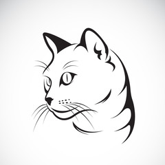 Vector of a cat face design on white background, Vector illustra