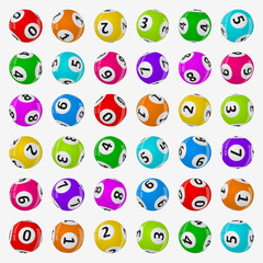vector illustration of lottery balls.