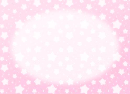 ファンシーでかわいい 星とキラキラの幻想的なパステルカラーコピースペース 長方形 ピンク色