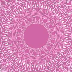 mandala rituals spiritual classic pink background vector illustration eps 10