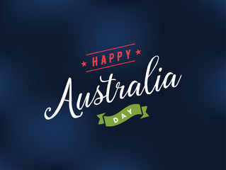 Happy Australia day vector design.