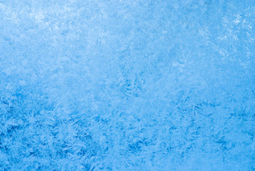 frost pattern on glass background texture