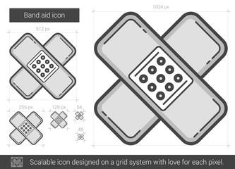 Band aid line icon.