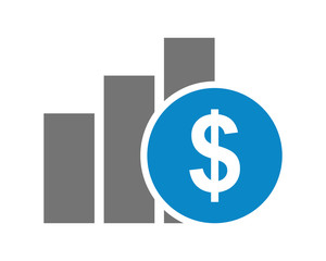 chart currency dollar icon
