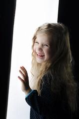 Beautiful girl portrait in the studio